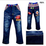 Теплые джинсы Cars для мальчика. 110, 140 см