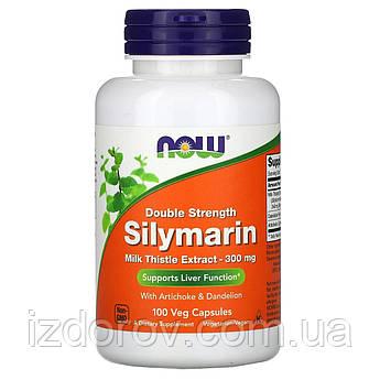 Now Foods, Силимарин, экстракт расторопши, 300 мг, 100 растительных капсул