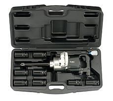 """1"""" Набор гайковерта (2 720 Нм) и ударных головок 6-гр. 10 пр. (27-41 мм) (FORCE 8091D-1)"""