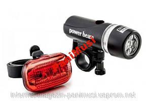 Набор ламп для велосипеда Power Beam перед/зад