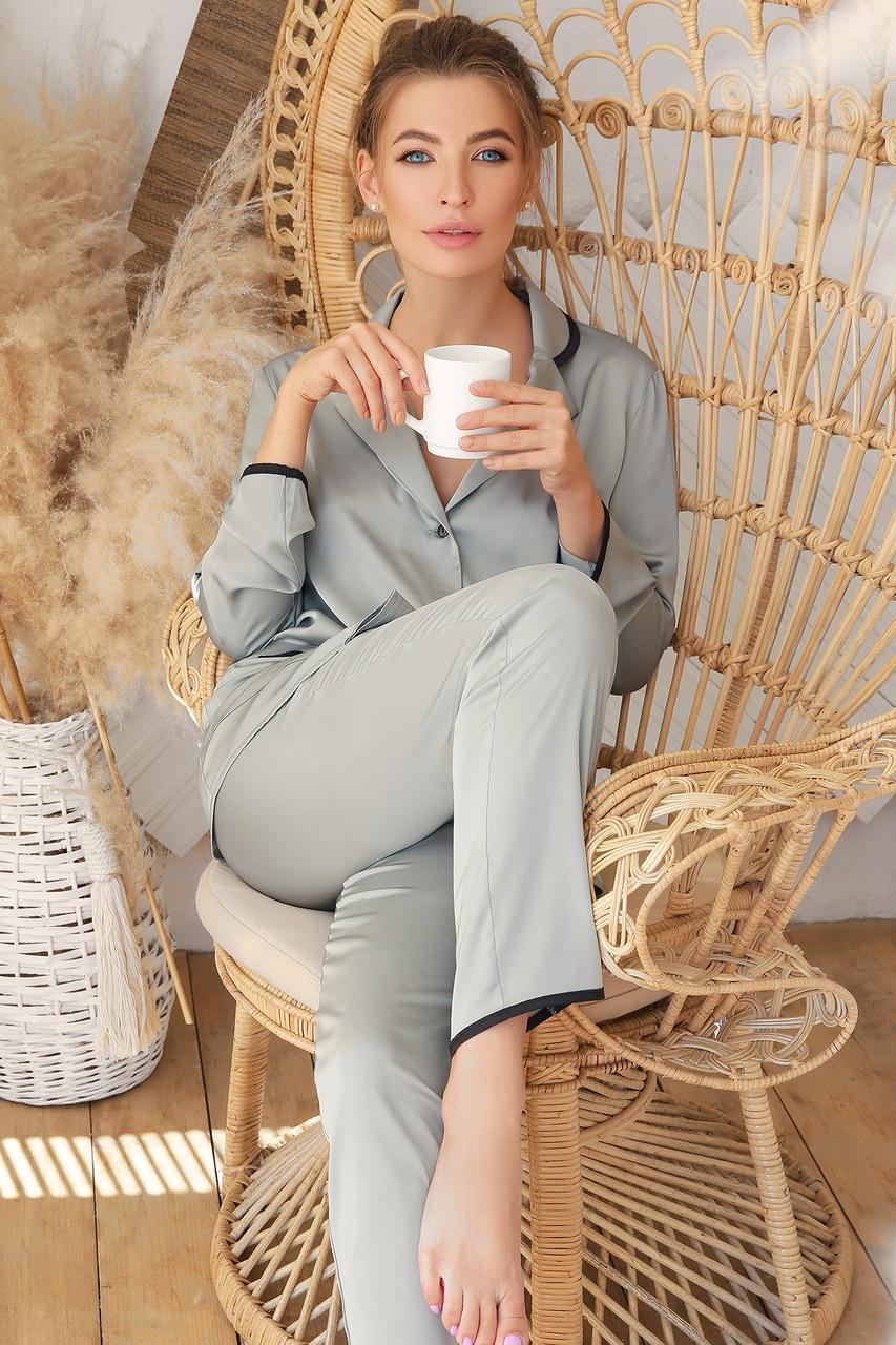 Шелковая женская домашняя рубашка Зоряна д/р
