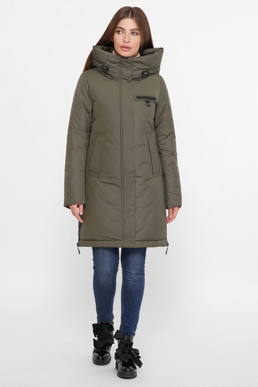 Жіноча зимове оливкова куртка М-2091