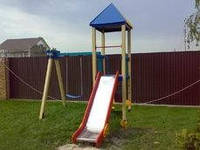 Производство детских игровых комплексов лабиринтов с горкой, фото 1