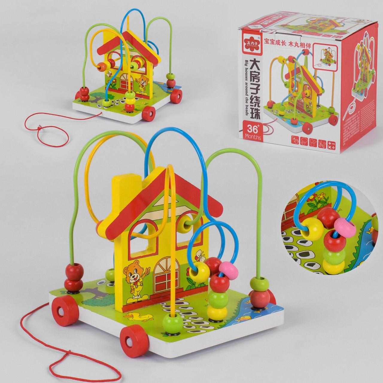 Дерев'яна іграшка Каталка-Лабіринт для дітей З 31362