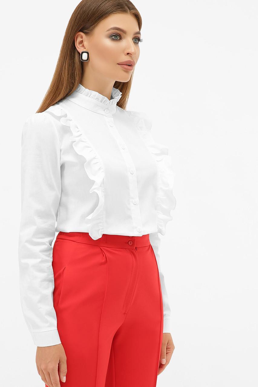 Блуза женская белая  Мэнди д/р