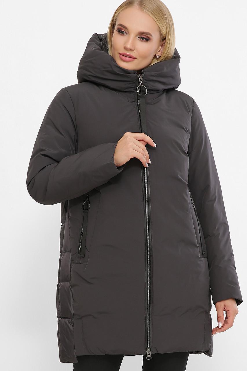 Жіноча зимова куртка без хутра 2163