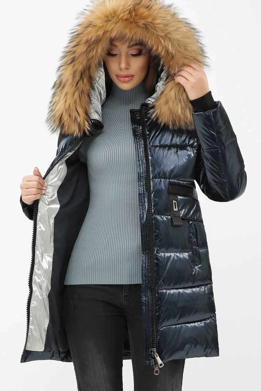 Женская зимняя куртка с натуральным мехом  8002