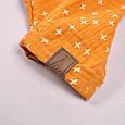 """Муслиновый комбінезон з футболкою """"Mag"""", гірчично-молочний, фото 7"""