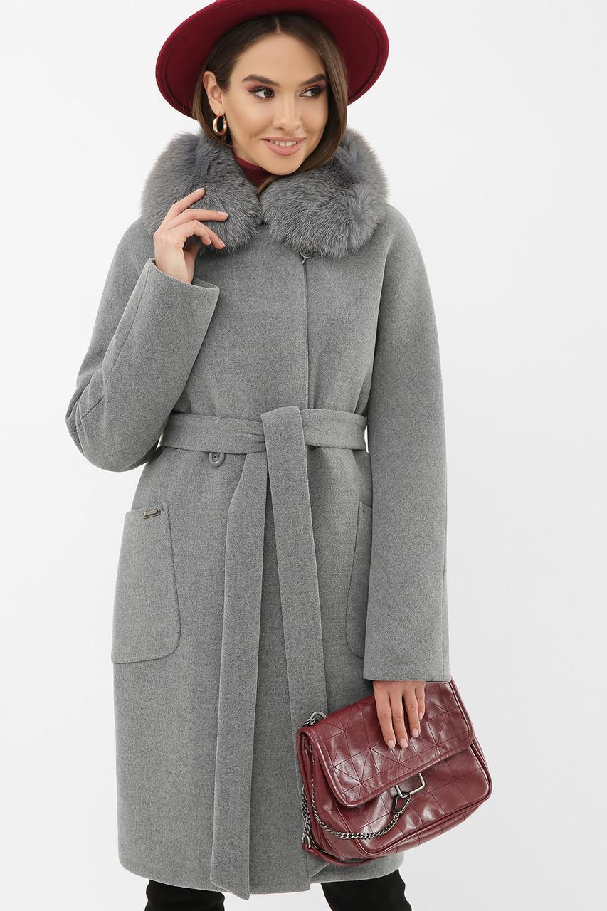 Жіноче зимове пальто з хутряним коміром MS-233 Z