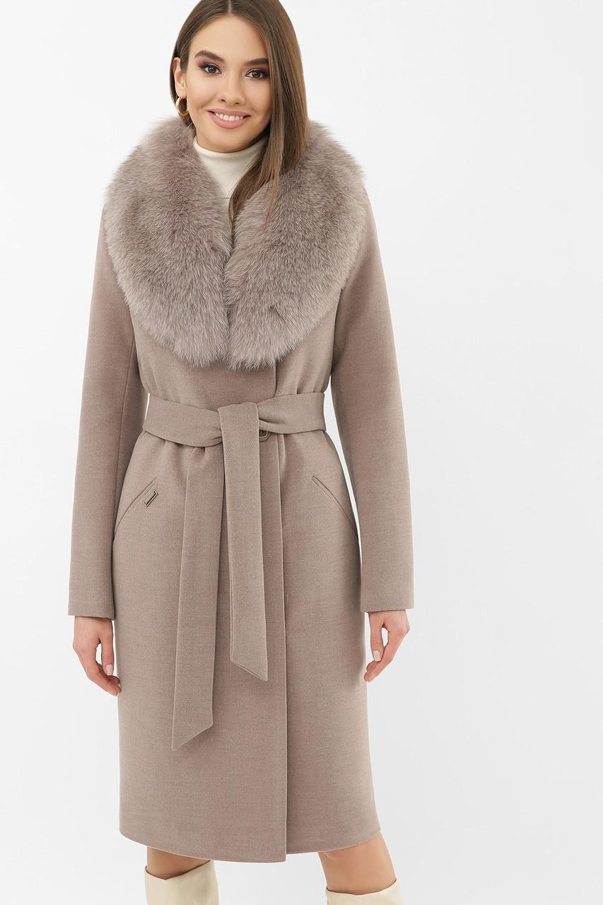 Жіноче зимове пальто з хутряним коміром MS-255 Z