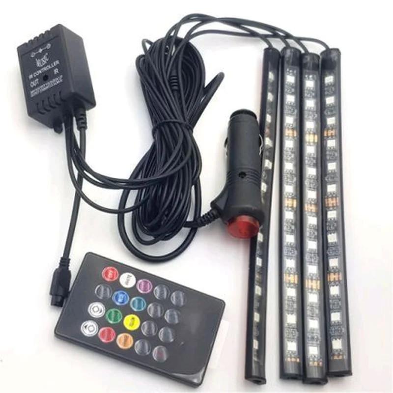 Кольорове RGB LED підсвічування салона авто c пультом