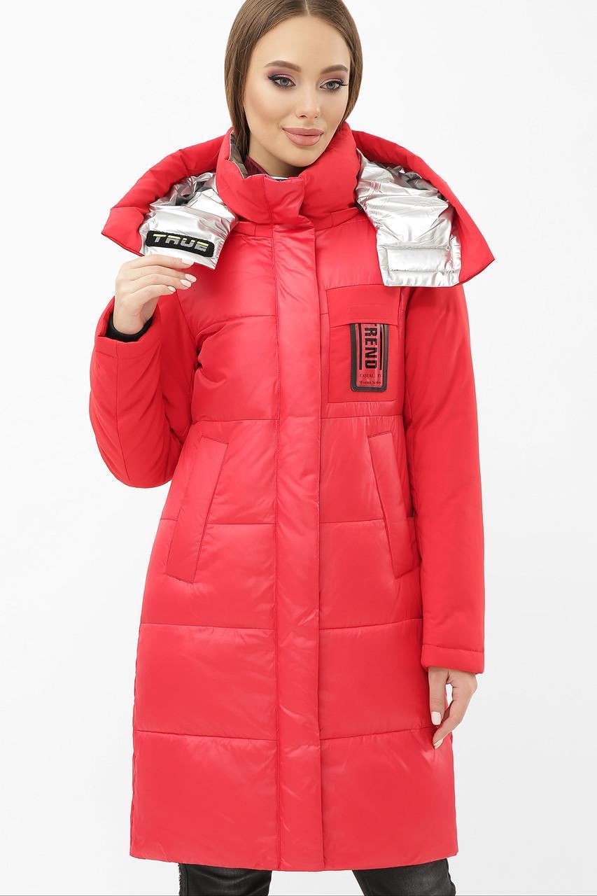 Женская зимняя куртка  красная  М-2085