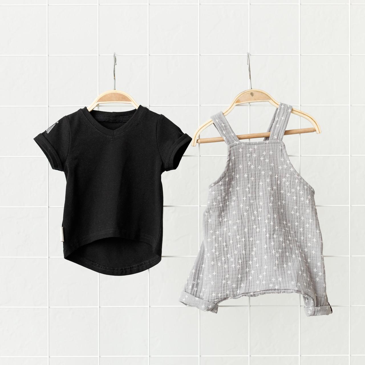 """Муслиновый комбінезон з футболкою """"Mag"""", сіро-чорний"""