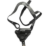Кобура оперативная для револьвера, кожаная формованная