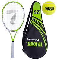 Teloon Ракетка для большого тенниса 3501-25 Лимонный ,теннисный мяч в подарок