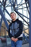 Ветровка-виндраннер Nike Heritage Windrunner (Черно-серый)