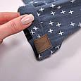 """Муслиновый комбинезон с футболкой """"Mag"""", сине-серый, фото 6"""