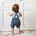 """Муслиновый комбинезон с футболкой """"Mag"""", сине-серый, фото 8"""