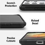 Чехол для Samsung Galaxy S21 Ultra Ringke серии  Fusion X цвет Black (черный), фото 6