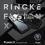 Чехол для Samsung Galaxy S21 Ultra Ringke серии  Fusion X цвет Black (черный), фото 3