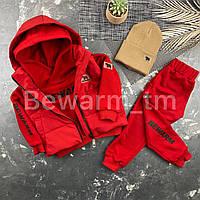 Жилетка детская с капюшоном BEWARM Красный