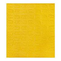 Декоративна 3D панель самоклейка під цеглу Жовтий 700х770х5мм, фото 1