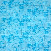 Декоративная 3D панель самоклейка под кирпич Голубой мрамор 700x770x5мм, фото 1