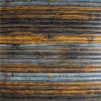 Самоклеюча декоративна 3D панель бамбук сіро-коричневий 700x700x8.5мм