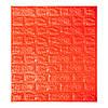 Самоклеющаяся декоративная 3D панель для кухни, стен, ванной самоклейка под кирпич Оранжевый  700х770х5мм