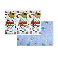 """Розвиваючий килимок дитячий термо """"Автобус+Котики"""" 200х150х1см (242), фото 1"""