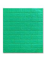 Самоклеюча декоративна 3D панель Цегла М'ята 700х770х5мм