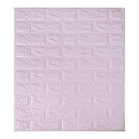 Самоклеюча декоративна 3D панель для кухні, стін, ванної Цегла світло - фіолетовий 700х770х5мм