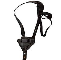 Кобура оперативная для револьвера, кожаная формованная со скобой , фото 1