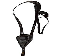 Кобура оперативная для револьвера, кожаная формованная со скобой