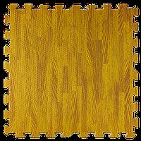 Підлога пазл - модульне підлогове покриття 600x600x10мм бурштинове дерево, фото 1