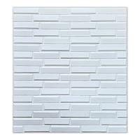 Самоклеющаяся декоративная 3D панель для кухни, стен, ванной белая кладка 770х700х8 мм, фото 1