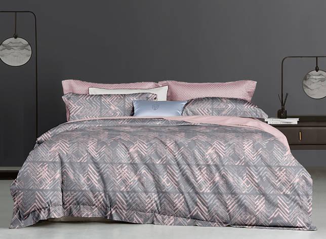 Двуспальный комплект постельного белья евро 200*220 ранфорс  (16977) TM KRISPOL Украина, фото 2