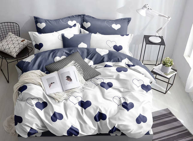 Двуспальный комплект постельного белья евро 200*220 ранфорс  (16980) TM KRISPOL Украина, фото 2