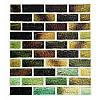 Самоклеюча декоративна 3D панель під цеглу зелений мікс 700х770х4мм
