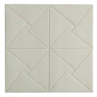 Самоклеющаяся декоративная потолочно-стеновая 3D панель оригами 700x700х6.5мм, фото 1