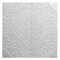 Самоклеющаяся декоративная потолочно-стеновая 3D панель 700x700x7,5мм, фото 1