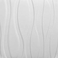 Самоклеюча декоративна настінно-стельова 3D панель великі хвилі 700х700х7мм