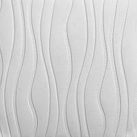 Самоклеюча декоративна настінно-стельова 3D панель хвилі 700х700х8мм, фото 1