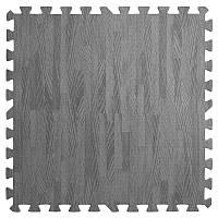 Підлога пазл - модульне підлогове покриття 580x580x10мм темно-сіре дерево