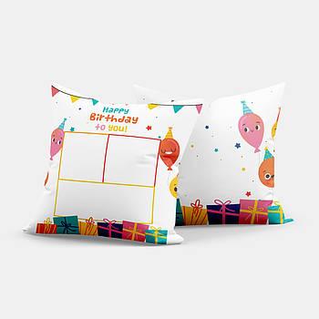 Декоративная подушка-коллаж для сублимации с принтом S3D005