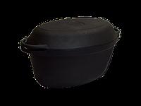 Утятница чугунная с чугунной крышкой-сковородой. V 3,5 л.