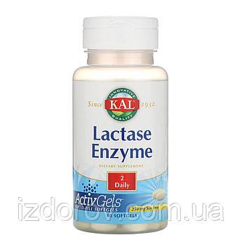 KAL, Лактаза, При непереносимости лактозы, 250 мг, 60 мягких капсул. США