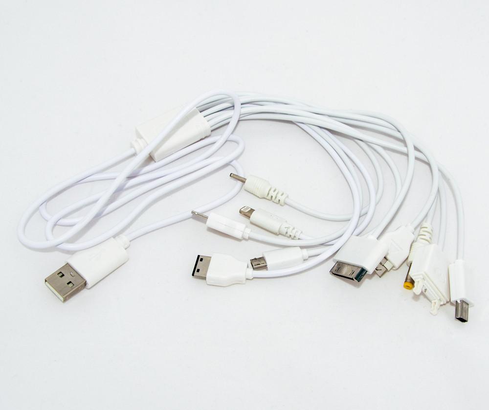 Универсальное зарядное устройство для телефона 10 в 1 MX-C12 UKC USB Charger, шнур для зарядки (GK)