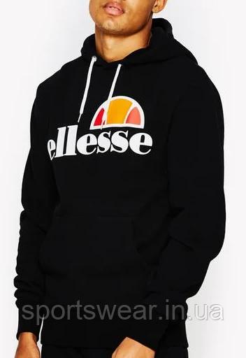 Худи Ellesse черное с лого, унисекс