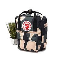 Популярний рюкзак поліестер камуфляж Арт.7111-7L Kanken (Китай)